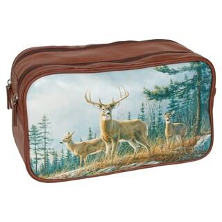 Buxton Wildlife 'Autumn Whitetail Deer' Double-zip Travel Kit