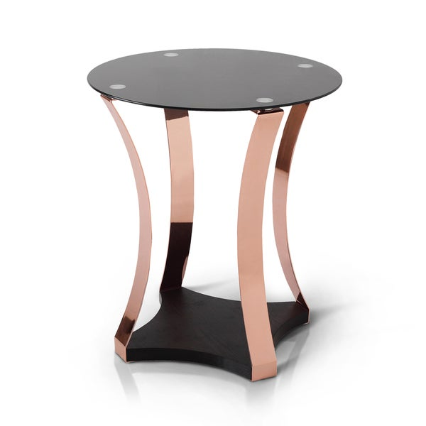 Rose Gold Mirrored Coffee Table: Shop Furniture Of America Rosella Contemporary Rose Gold