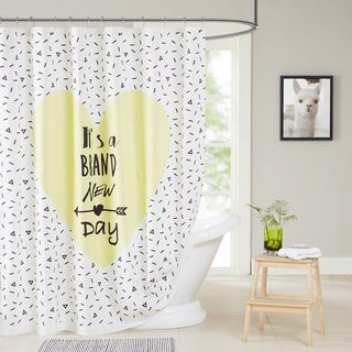 HipStyle Beckham Multi 100% Cotton Shower Curtain