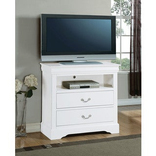White Louis Philippe III TV Console