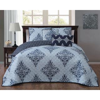 Avondale Manor Mari 5-piece Polyester Microfiber Damask Quilt Set