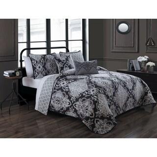 Avondale Manor Portofino 5-piece Polyester Microfiber Damask Quilt Set