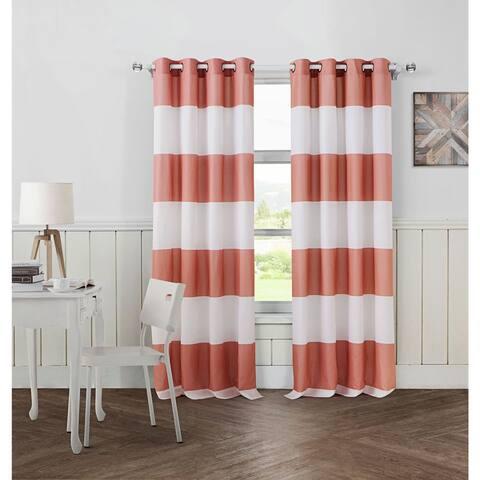 Avondale Manor Cabana Stripe Curtain Panel Pair