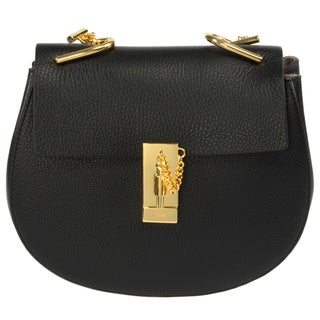 Chloe Drew Medium Black w/Gold Hardware Chain Shoulder Handbag