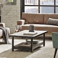 INK+IVY Cody Pewter Coffee Table