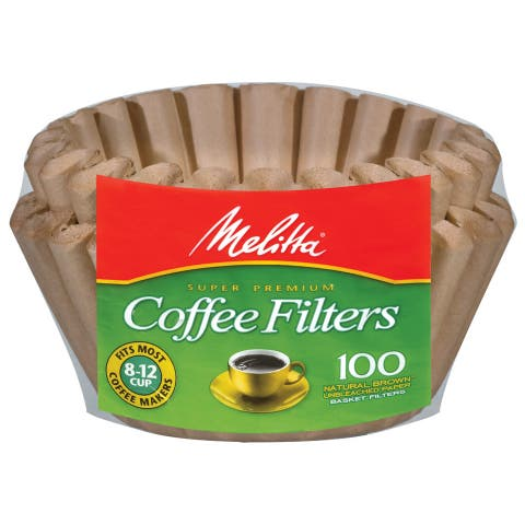 Melitta 629092 8 To 12 Cup Natural Brown Basket Coffee Filters 100-count