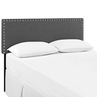 Modway Wood Grey 'Phoebe' Queen Size Upholstered Headboard