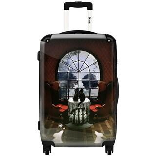 iKase Room Skull 20-inch Fashion Hardside Spinner Suitcase