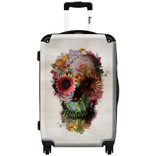 iKase Skull Town 20-inch Fashion Hardside Spinner Suitcase