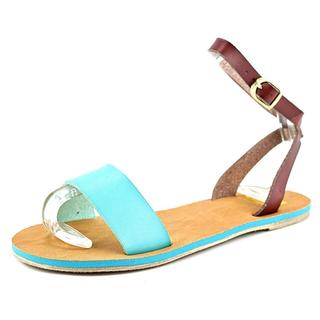 Cape Robbin Women's Alma-FB-7 Blue/Brown Faux Leather Sandals