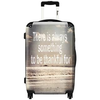 iKase Thankful 20-inch Fashion Hardside Spinner Suitcase