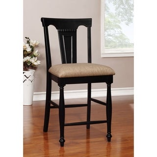 Link to Furniture of America Kis Country Solid Wood Counter Chairs (Set of 2) Similar Items in Dining Room & Bar Furniture