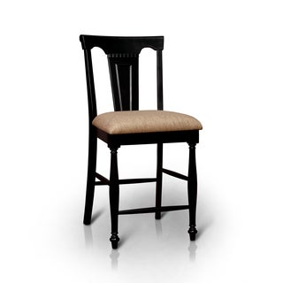 Furniture of America Lanie Country Style 26-inch Counter Height Chair (Set of 2)