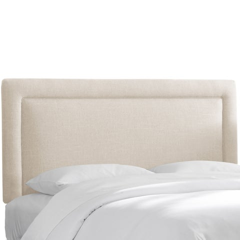 Skyline Furniture Polyester Linen Talc Border Headboard