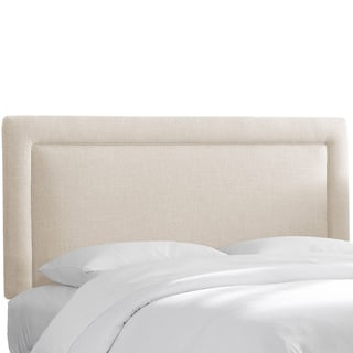 Polyester Linen Talc Border Headboard- Skyline Furniture