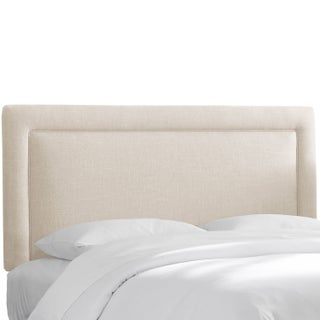 Polyester Linen Talc Border Headboard- Skyline Furniture (5 options available)