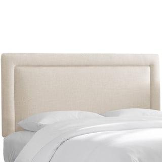 Skyline Furniture Polyester Linen Talc Border Headboard