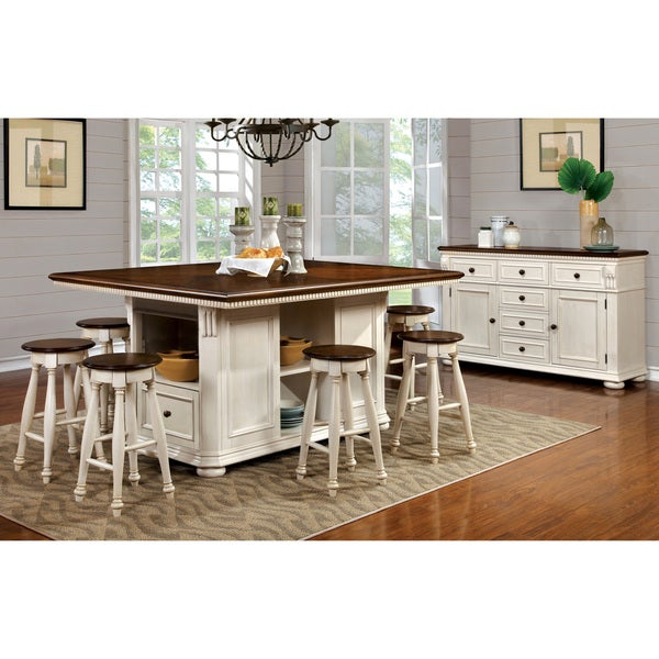 Shop Furniture Of America Lanie Country Style Two-Tone