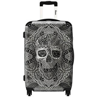 iKase Skull Lace 20-inch Fashion Hardside Spinner Suitcase