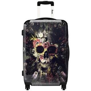 iKase Garden Skull 20-inch Carry On Hardside Spinner Suitcase
