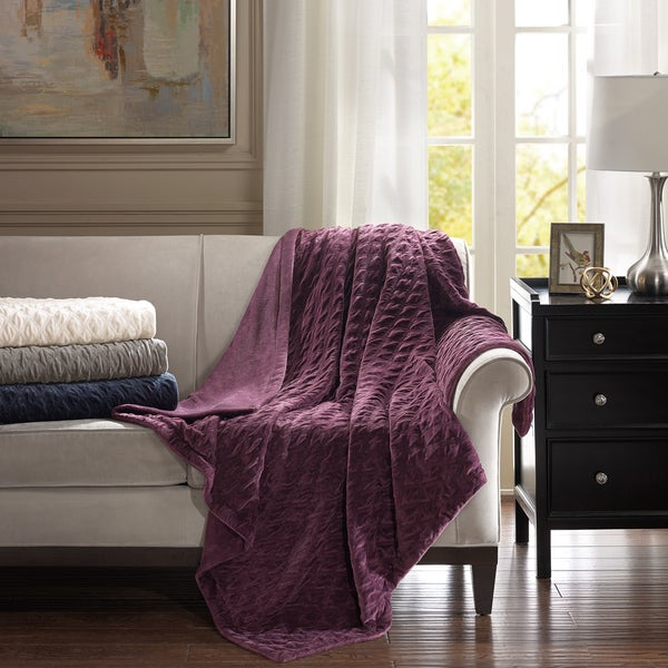 Bombay Victoria Oversized Textured Plush Throw 4-Color Options