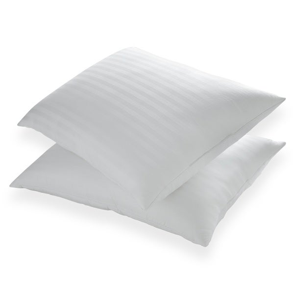 St. James Home Memory Foam and Goose Nano Feather Pillow (Set of 2) - White
