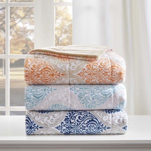 Madison Park Sydney Oversized Plush Down Alternative Throw 3-Color Options