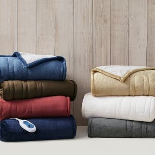 Woolrich Oversized Plush To Berber Heated Throw 7 Color Options