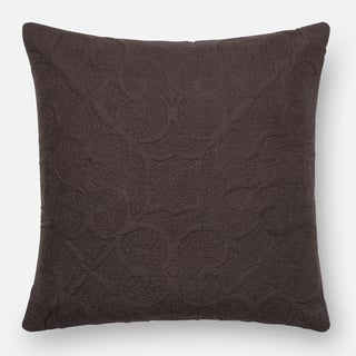 Quilted Dark Brown Down Feather or Polyester Filled 18-inch Throw Pillow or Pillow Cover