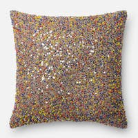 Beaded Multi 18-inch Throw Pillow or Pillow Cover