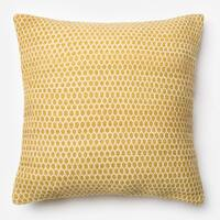 Poplin Lemon Woven Wool 22-inch Throw Pillow or Pillow Cover