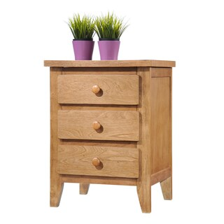 Donco Kids Wooden 3-drawer Nightstand in Medium Oak Finish