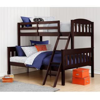 Dorel Living Airlie Espresso Twin over Full Bunk Bed