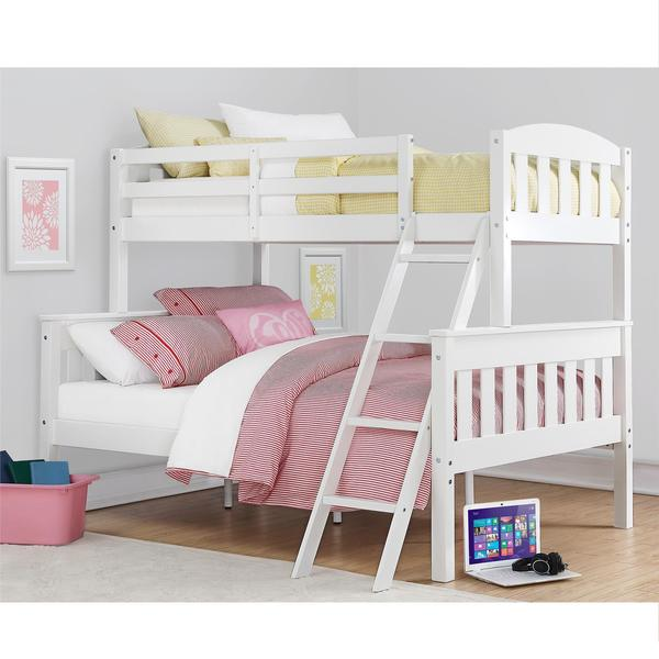 Shop Dorel Living Airlie White Twin Over Full Bunk Bed