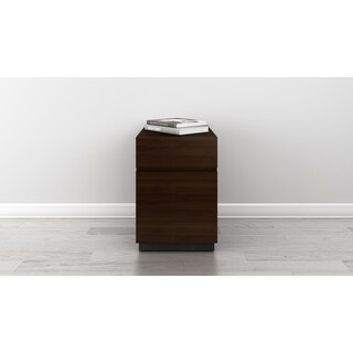 Furnitech Signature Home Collection American Walnut Veneer 16-inch File Cabinet