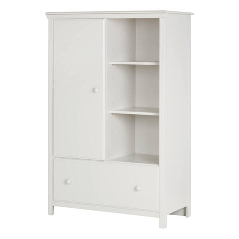 South Shore Cotton Candy White/Grey Laminate Armoire With Drawer