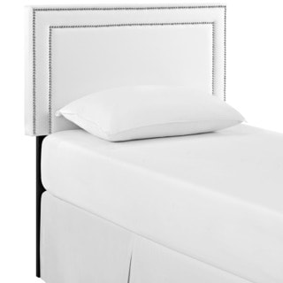 Jessamine White Vinyl Twin Headboard