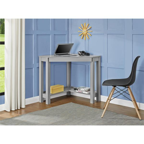 Ameriwood Home Parsons Grey Corner Desk Free Shipping