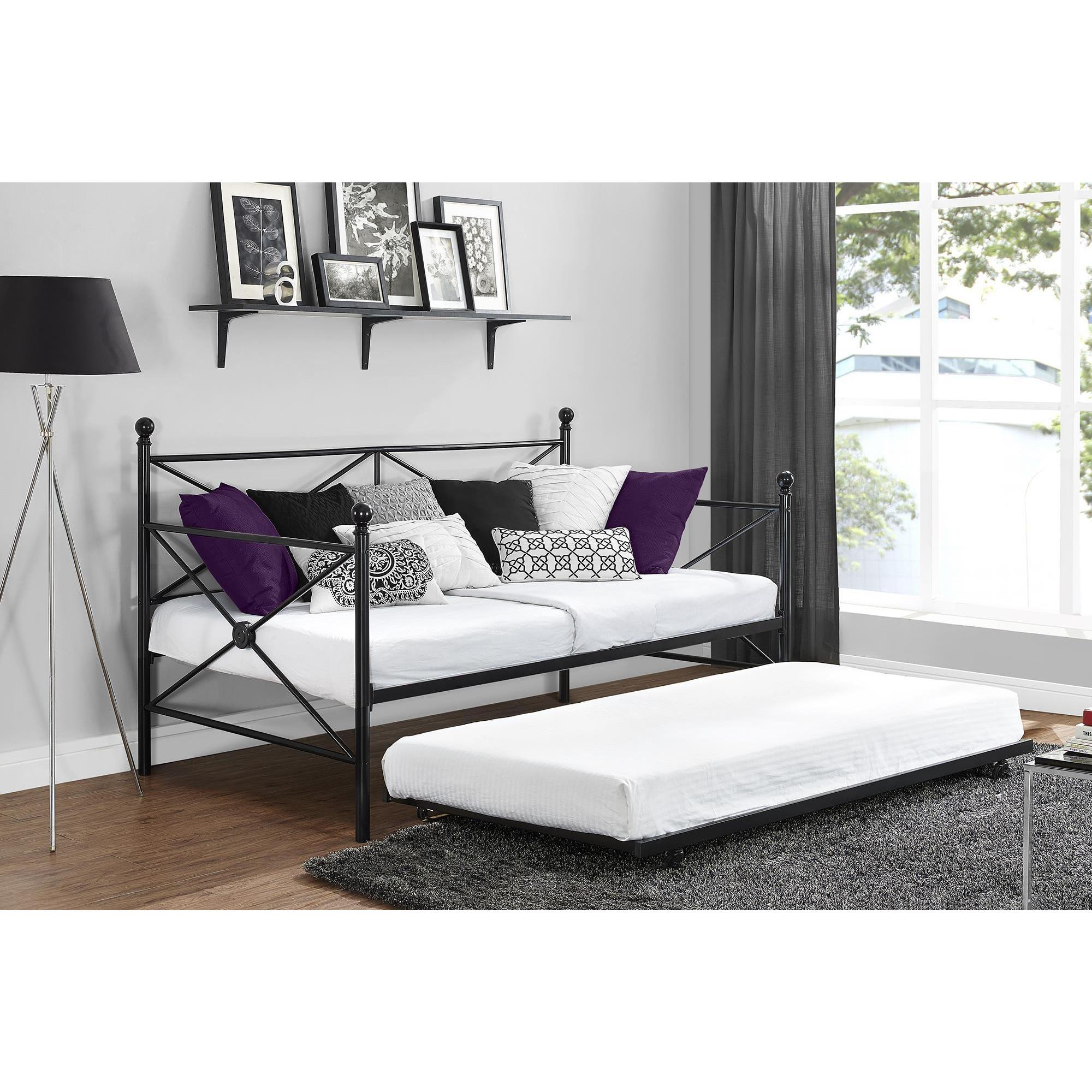 DHP Lubin Black Daybed and Trundle (Daybed with trundle, ...