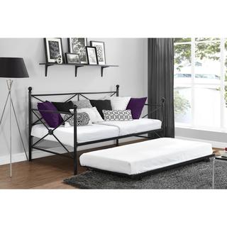 DHP Lubin Black Daybed and Trundle