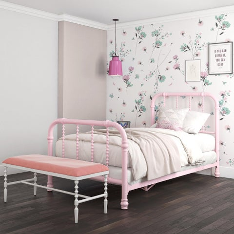 DHP Jenny Lind White Metal Twin Bed