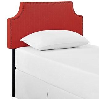 Laura Atomic Red Fabric Twin-sized Headboard
