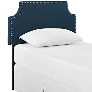 Laura Azure Fabric Headboard