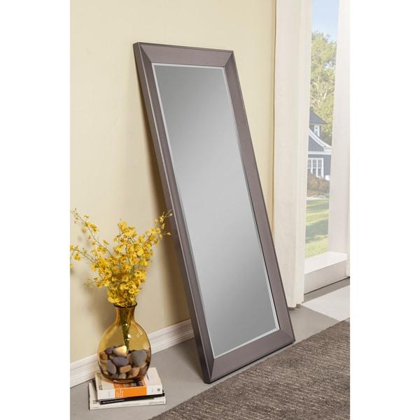 Sandberg Furniture Mid-Century Modern Silver Full-length Leaner Mirror