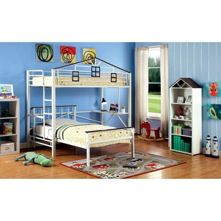 Furniture of America Houzer Contemporary Metal Two-Tone Loft Bed