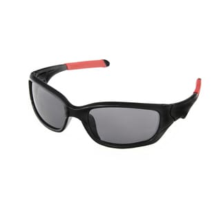 Hot Optix Childrens Black Plastic Sport Wrap Sunglasses