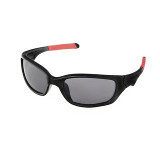 Hot Optix Boy's Black Plastic Sport Wrap Sunglasses