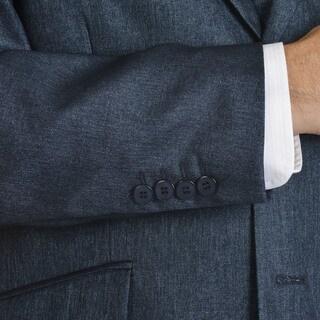 Stacy Adams Men's Shark-skin Pattern Polyester 3-piece Suit