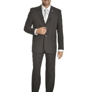 Stacy Adams Men's Striped 4-piece Suit