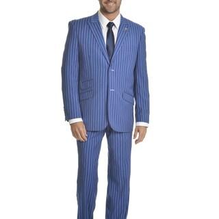 Stacy Adams Men's Striped 4-piece Suit